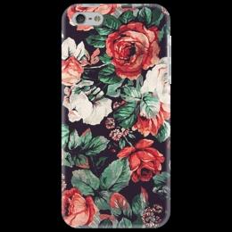 """Чехол для iPhone 5 """"Цветы акварель"""" - цветы, акварель, живопись"""