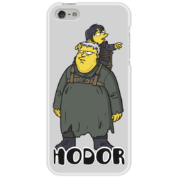 "Чехол для iPhone 5 ""Game of Thrones - Hodor"" - симпсоны, игра престолов, game of thrones, hodor, ходор"