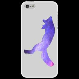 "Чехол для iPhone 5 ""Space animals"" - space, космос, лиса, fox, астрономия"