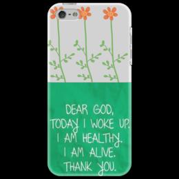 "Чехол для iPhone 5 ""Благодарный чехол"" - цветы, apple, iphone, зеленый, яркий, благодарность"