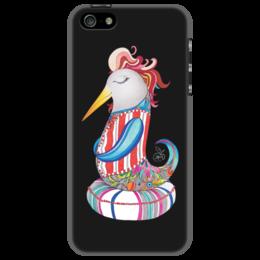 "Чехол для iPhone 5 ""птица Prosperity"" - арт, птица, рисунок, графика, процветание"