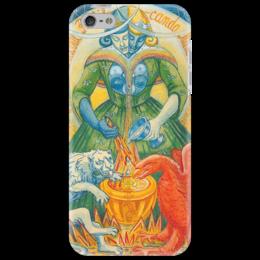 """Чехол для iPhone 5 """"карты таро умеренность"""" - карты, эзотерика, кроули, таро, искусность"""