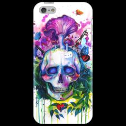 """Чехол для iPhone 5 """"Череп"""" - skull, череп, iphone, дизайн, краски, эксклюзив, концепт, грибы, красочно, чехол"""