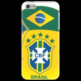"""Чехол для iPhone 5 """"Сборная Бразилии"""" - футбол, brazil, бразилия, сборная бразилии, селесао"""