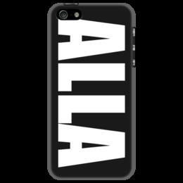 """Чехол для iPhone 5 """"с именем Алла"""" - чехол с именем, чехол с именем алла, алла"""