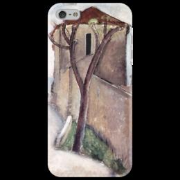 """Чехол для iPhone 5 """"Дерево и дом"""" - картина, модильяни"""