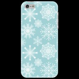 """Чехол для iPhone 5 """"Снежинки"""" - новый год, снег, абстракция, снежинка"""