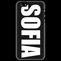 """Чехол для iPhone 5 """"с именем София"""" - софия, чехол с именем, чехол с именем софия"""