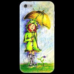 """Чехол для iPhone 5 """"Дождик, дождик, уходи!"""" - дети, детское, ручная работа, детский рисунок, детская работа"""