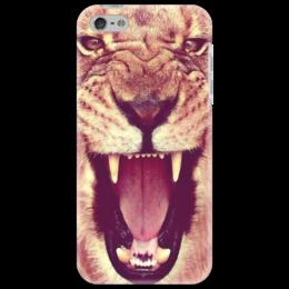 "Чехол для iPhone 5 ""Царь зверей"" - lion"