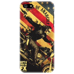 "Чехол для iPhone 5 ""S O A "" - usa, sons of anarchy, сыны анархии, криминальная драма, bikers, клуб байкеров"