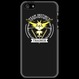 """Чехол для iPhone 5 """"Покемоны. Team Instinct"""" - прикольные, покемон, покемоны, pokemon go, team instinct"""