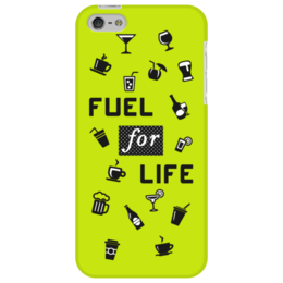 """Чехол для iPhone 5 """"Fuel for life"""" - кофе, напитки"""