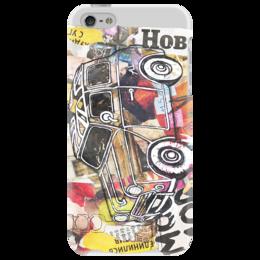 """Чехол для iPhone 5 """"MOD_MOD_English_style_car"""" - рисунок, прикольные, в подарок, оригинально"""