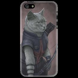 """Чехол для iPhone 5 """"super hero cat [1]"""""""