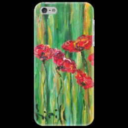 "Чехол для iPhone 5 ""Сердце"" - арт, ярко, красота, девушке, маки"