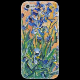 """Чехол для iPhone 5 """"Солнечные ирисы"""" - любовь, лето, ирисы, flowers, iris, blue, живопись"""
