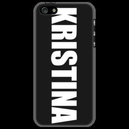 """Чехол для iPhone 5 """"с именем Кристина"""" - кристина, чехол с именем, чехол с именем кристина"""