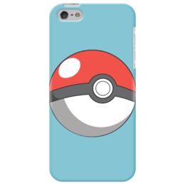 "Чехол для iPhone 5 ""Покебол"" - pokemon, покемон, go, покебол, poké ball"
