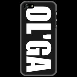 """Чехол для iPhone 5 """"с именем Ольга"""" - ольга, чехол с именем, чехол с именем ольга"""