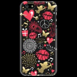"""Чехол для iPhone 5 """"Валентинка"""" - валентинка, сердце, губы, любовь"""