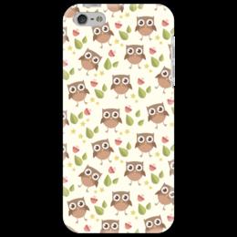 """Чехол для iPhone 5 """"Совы. Совушки. Owl"""" - осень, птицы, сова, owl, совушки"""