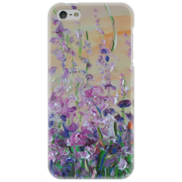 """Чехол для iPhone 5 """"Иван-чай"""" - цветочки, иван-чай"""