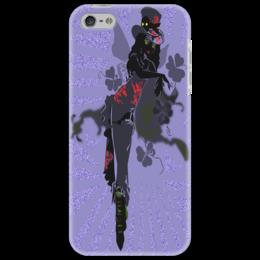 """Чехол для iPhone 5 """"Ядовитый плющ."""" - девушка, негритянка, ядовитый плющ, череп, трилистники"""