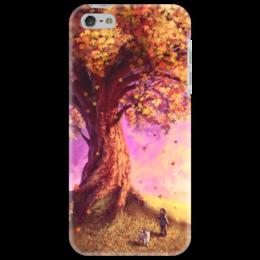 "Чехол для iPhone 5 ""Осень"" - листья, осень, дети, дерево, autumn, fall, tree, leafs"