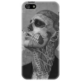 """Чехол для iPhone 5 """"Rick Genest"""" - арт, популярные, оригинально, zombie boy"""