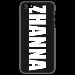 """Чехол для iPhone 5 """"с именем Жанна"""" - чехол с именем, чехол с именем жанна, жанна"""