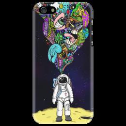 """Чехол для iPhone 5 """"Astronaut"""" - арт, space, популярные, рисунок, космос, оригинально, astronaut, iphone 5, чехол для айфона, астронавт"""