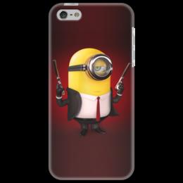 "Чехол для iPhone 5 ""Minion Hitman"" - прикол, игры, мультфильм, гадкий я, despicable me, hitman, minion, миньён"