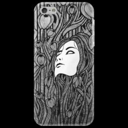 """Чехол для iPhone 5 """"Live mask"""" - арт, стиль, в подарок, графика, оригинально, авторская работа, an, необычность"""