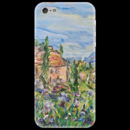 "Чехол для iPhone 5 ""Тоскана"" - италия, земля, горы, луг, тоскана"