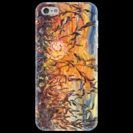 "Чехол для iPhone 5 ""Закат"" - красиво, лето, солнце, тепло, sunset, sun, summer"