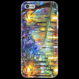 """Чехол для iPhone 5 """"Картина Малевича"""" - night, ночь, дождь, rain, бульвар"""