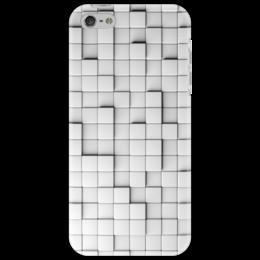 """Чехол для iPhone 5 """"Выпуклые квадратики"""" - 3d, optical illusion"""