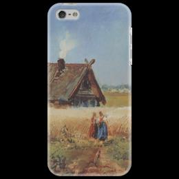 """Чехол для iPhone 5 """"Кутузовская изба"""" - картина, саврасов"""