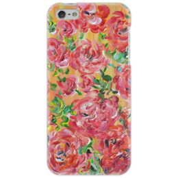 """Чехол для iPhone 5 """"Красные розы"""" - девушка, красота, цветочки, розы, красные розы"""