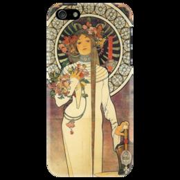 """Чехол для iPhone 5 """"нимфа"""" - арт, девушка, в подарок, оригинально, напитки, art nouveau, nymph"""