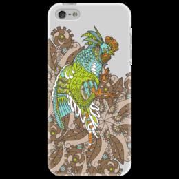"""Чехол для iPhone 5 """"петушиное разноцветие"""" - узор, птица, символ года, злой, петух"""