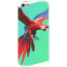 "Чехол для iPhone 5 ""Parrot"" - попугай, bird, parrot, macaw, ара"