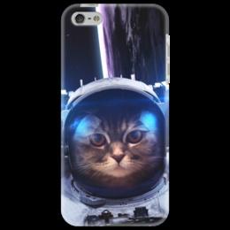 "Чехол для iPhone 5 ""Кот космонавт"" - юмор, space, космос, наука, thespaceway"