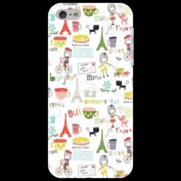 """Чехол для iPhone 5 """"Paris"""" - кот, девушка, город, коты, france, city, франция, cats, coffee, париж"""