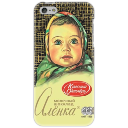 "Чехол для iPhone 5 """"Аленка"" "" - айфон, в подарок, шоколад, chocolate, аленка, шоколадка"