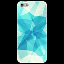 """Чехол для iPhone 5 """"Минимализм"""" - голубой, минимализм"""