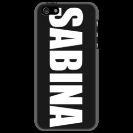 """Чехол для iPhone 5 """"с именем Сабина"""" - сабина, чехол с именем, чехол с именем сабина"""