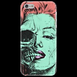 """Чехол для iPhone 5 """"Зомби Монро"""" - череп, зомби, поп-арт, мерлин монро, marilyn monroe"""