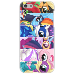 "Чехол для iPhone 5 ""SuperPonies"" - rainbow dash, applejack, rarity, fluttershy, twilight sparkle, pinkie pie, superponies"